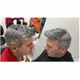 prótese capilar masculina grisalha Areal